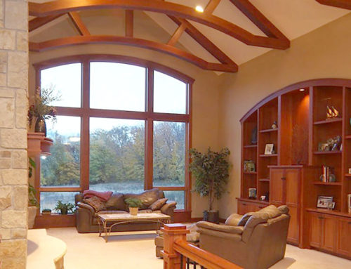 High Arched Ceiling Living Room